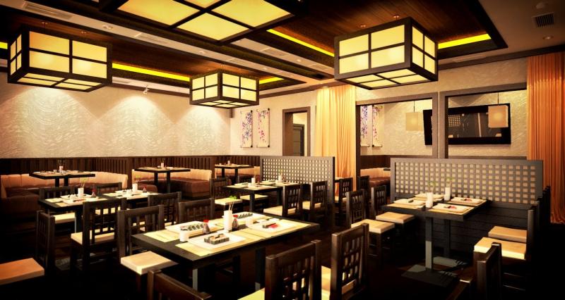 Японский Ресторан Цветение сакуры фото