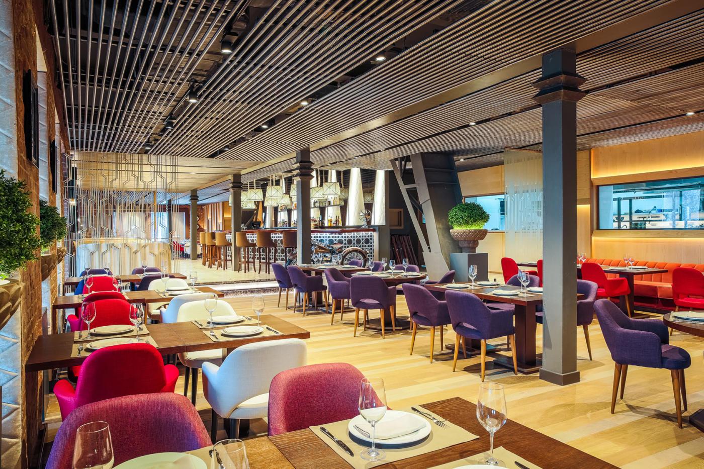 Панорамный Ресторан Трамплин на Воробьевых Горах фото