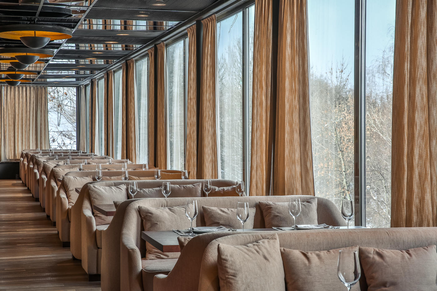 Панорамный Ресторан Трамплин на Воробьевых Горах фото 19