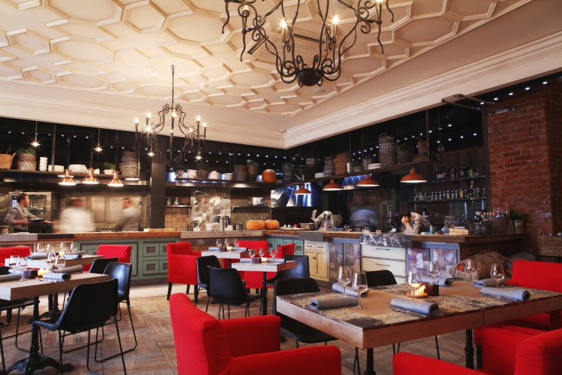 Интерьер одного из ресторанов Аркадия Новикова в Москве