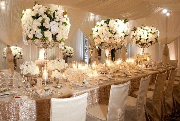 Интерьер одного из банкетных залов для свадьбы