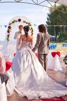 Одна из свадеб на летней веранде в Москве.