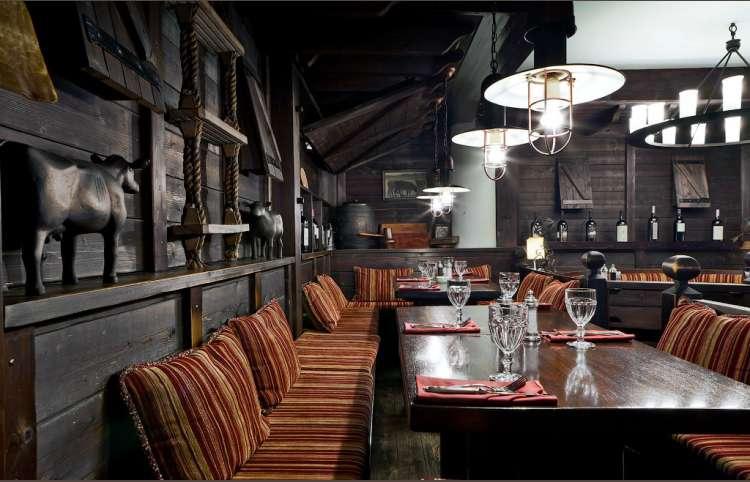 Интерьер зала для курящих ресторана Эль Гаучо на Павелецкой